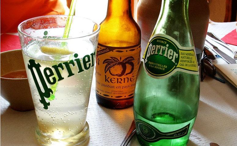 Bottle of Perrier