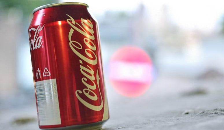 A Can of Coca Cola Soda